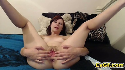 Milf Naughty Chloe home video pussy spreading and masturbation
