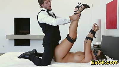 Maledom bondage fuck with Lilly L