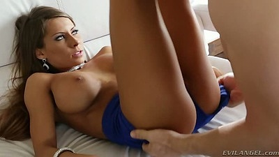 Big tits Madison Ivy blowjob with deep throat and undressing