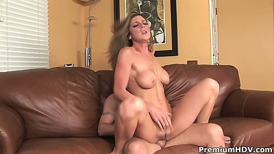 Reverse cowgirl medium tits sex with Kayla Paige on cock