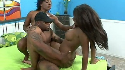 Cowgirl rough threesome ebony sex with dick sucking