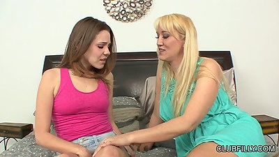 Milf and her teen lesbian friend Claire Heart and Alana Evans