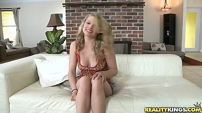 Stella Ferarri blonde teen blowjob and  jerking