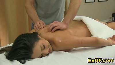 Oil massage with Linda L relaxing and loving it