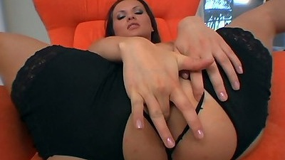 Katja Kassin fingering and oil playing