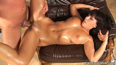 Veronika oiled up fuck with cowgirl sex