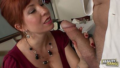 Redhead big tits milf Brittany O seduces man