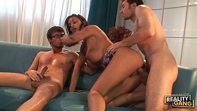 Big tits porn star  Lorena Sanchez gets threesome sex action