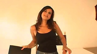Posing fully clothed Ava Ramon