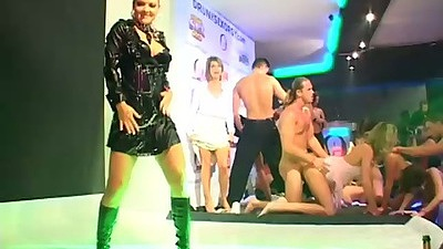 Dancing in great clothes all wet and flashing panties