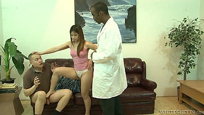 Asian Asia Zo comes in for a big black cock medical doctor exam