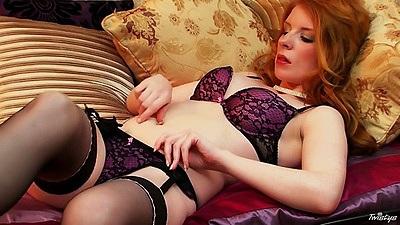 Bras and panties solo Nicole Hart