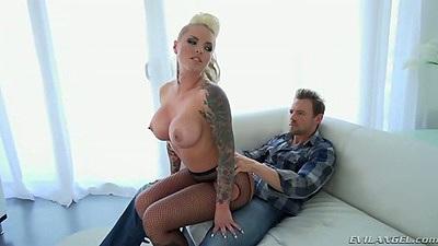 Fish blonde busty slut Christy Mack  dry humps dude