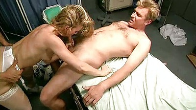 Hospital doctor blowjob with gang bang on bed for Missy