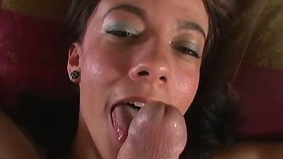 Marli Jane getting penis all over her face in pov