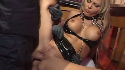 Double penetration with fetish sluts Anna Nova and Jasmine Lynne getting cum in mouth