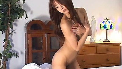 Asian milf gets dressed to have dinner and sex