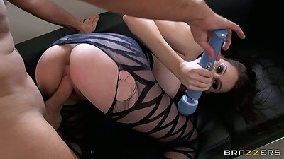 Doggy style and vibrator assisted squirt with Luna Kitsuen