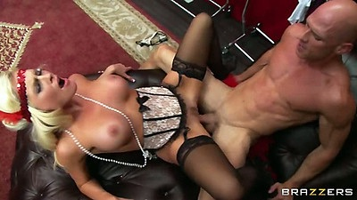 Roaring 20s fuck with lingerie milf Alena Croft