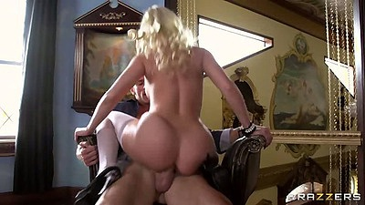 Britney Amber round ass cowgirl anal fuck