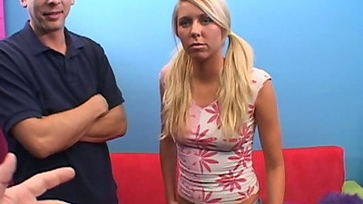 Blonde Brynn Tyler teen audition fully clothed casting
