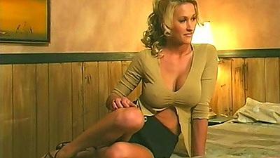 Big tits miniskirt Zana comes onto man to suck him off