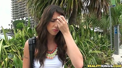 Logan latina gets picked up in public and taken to motel a bit shy