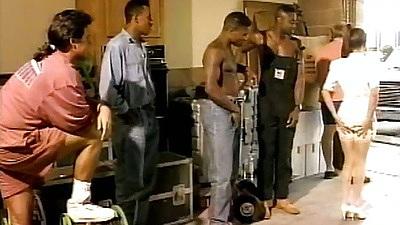 Selena Steele in group interracial true ghetto gang bang
