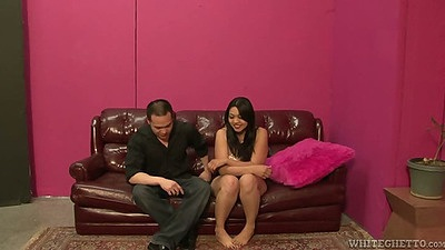 Asian Mika Tan gets naked and has great feet