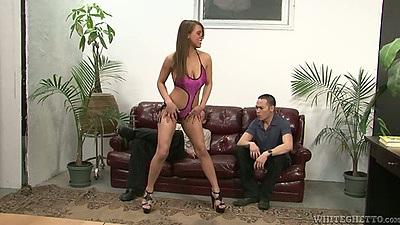 Skinny Natasha Vega posing for men in lingerie