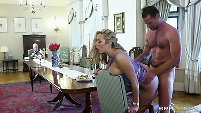 Standing fuck with half dressed Paige Turnah in affair fuck