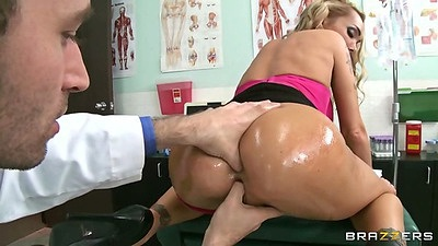 Devon ass fingering doctor visit with oil and rimjob