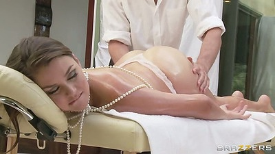 Dirty massage for oil up small tits good looking chick Allie Haze