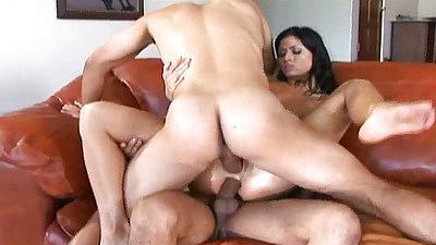 Dillan Lauren receives double penetration and close up view for her petite tiny body