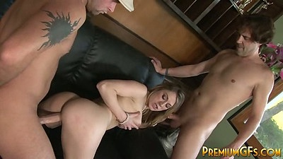 Doggy style and big dick blowjob with violated gf whore Amber Ashlee