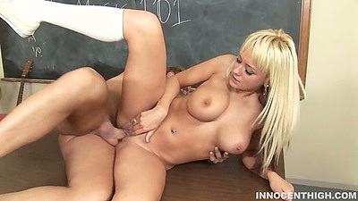 Sideways classroom fuck with teacher and student sex Briana Blair