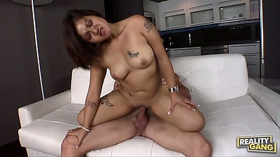 Asian medium tits mom A.J. Bailey with anal entry