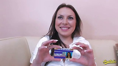 Lilly Lovely teen showing her id card proving her young and innocent age then blowjob