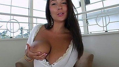 Sonia Carrere flipping out her monster big natural tits