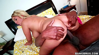 Cowgirl big ass white whore star Bridgette B on massive black dick
