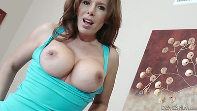 Milf flipping out her big fucking boobies