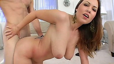 Great looks chick Kaylee Sanchez doggy fucked on her knees