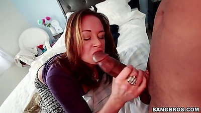 Big dick blowjob with Tory Lane in interracial cock sucking deep throat
