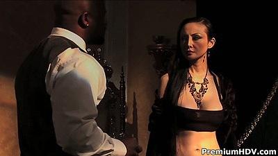 Ange Venus black cock asian slut pussy licking