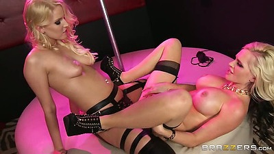 Nice lesbian peep show with hot and mean girls Alena Croft and Vanessa Cage