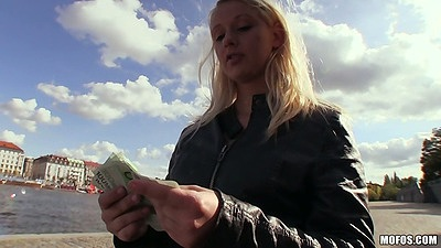 Monika public pick up for cash with euro girl