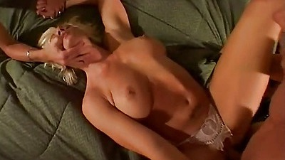 Spread open milf with pulled aside panties front entry blonde Britany Craft