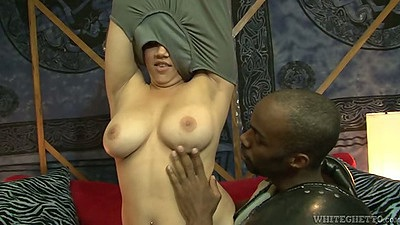 Asian Kat Major undressing and getting fingered by a black king dong