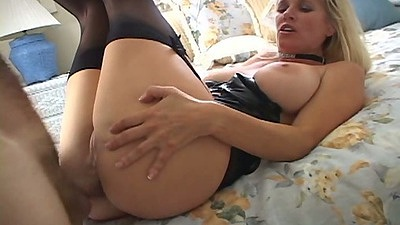 Raised legs anal with big fake tits and a open mouth facial dripping all over