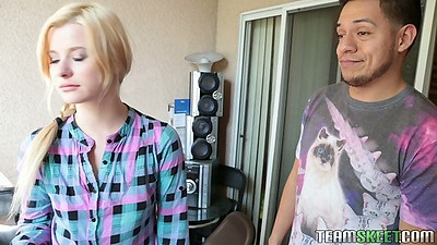 College teen Charlyse Angel fucks in dorm room